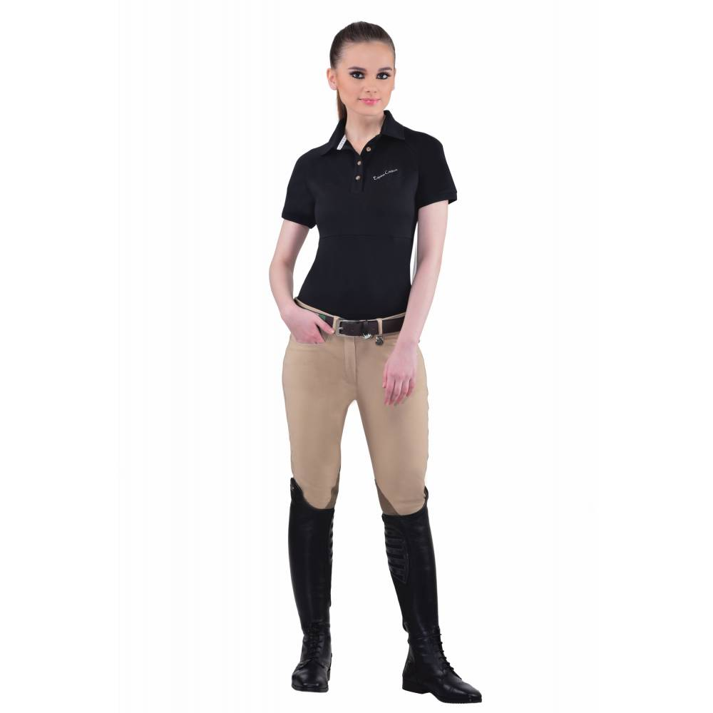 Equine Couture Performance Polo Shirt Ladiesshort Sleeve