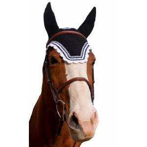 Equine Couture Fly Bonnet- Silver Lurex & Contrast Color