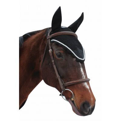 Equine Couture Fly Bonnet- Silver Rope