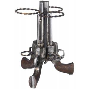 Triple Pistol Wine Holder