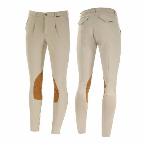 B Vertigo Sander Leather Knee Patch Breeches - Mens