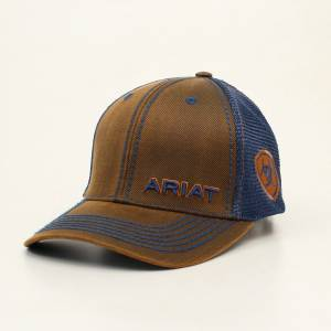Ariat Mens Oilskin Side Patch Logo Cap