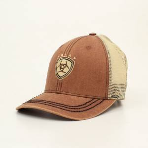 Ariat Mens Faded Center Logo Mesh Back Cap