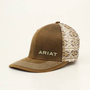 Ariat Mens Southwest Design Oilskin Logo Cap