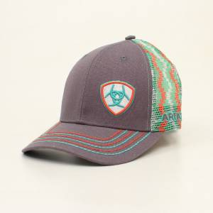 Ariat Mens Offset Logo Chevron Mesh Back Cap