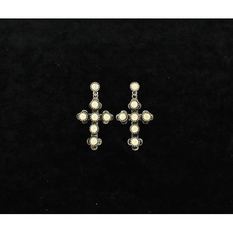 Blazin Roxx Cross Stone Earrings
