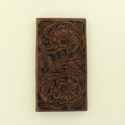 Ariat Accessories Mens Rodeo Floral Embossed Two Tone Wallet