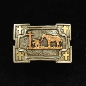 Crumrine Rectangle Smith Edge Cowboy Prayer Buckle