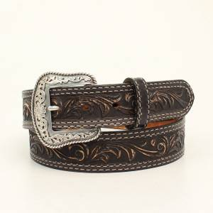 Nocona Belt Company Mens Pecos Embossed Belt And Buckle