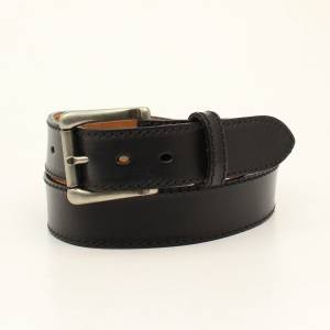 Nocona Belt Company Mens Ocala Plain Belt And Buckle