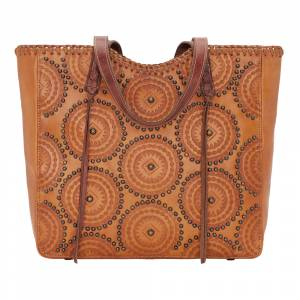 American West Kachina Spirit Large Zip Top Tote