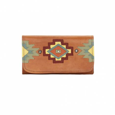 American West Adobe Allure Ladies Tri-Fold Wallet