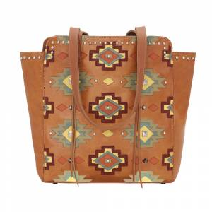 American West Adobe Allure Zip-Top Tote