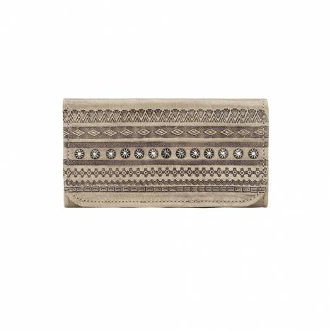 American West Trading Post Ladies Tri-Fold Wallet