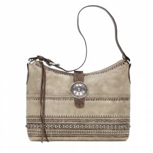 American West Trading Post Large Zip Top Shoulder Bag
