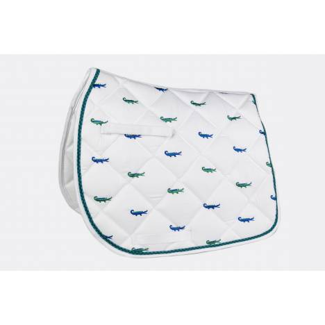 Lettia Embroidered All Purpose Pad - Green Alligator