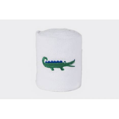Lettia Embroidered Polo Wraps - Green Alligator