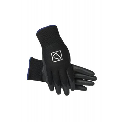 <H2>SSG Quality in a Tough Barn Glove!</H2></p><p>Use SSG Equestrian Barn Gloves for your worst barn tasks. These gloves feature nitrile knit outers with Terry cloth lining. </p>
