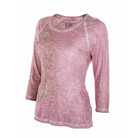 Noble Outfitters Washed Horses T-Shirt - Ladies