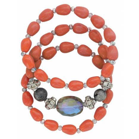 Montana Silversmiths Attitude Jewelry Triple Sunset Strands Bracelet