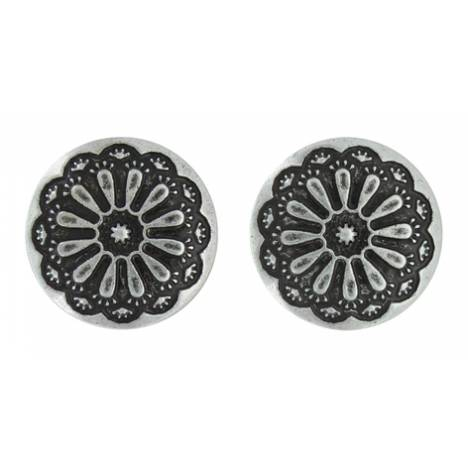 Montana Silversmiths Attitude Jewelry Antiqued Sunflower Post Earrings