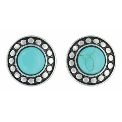 Montana Silversmiths Attitude Jewelry Beaded Button Post Earrings
