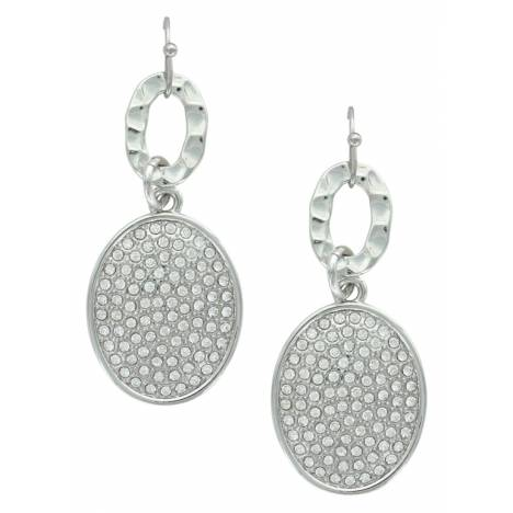 Montana Silversmiths Attitude Jewelry Ripple And Shine Oval Earrings