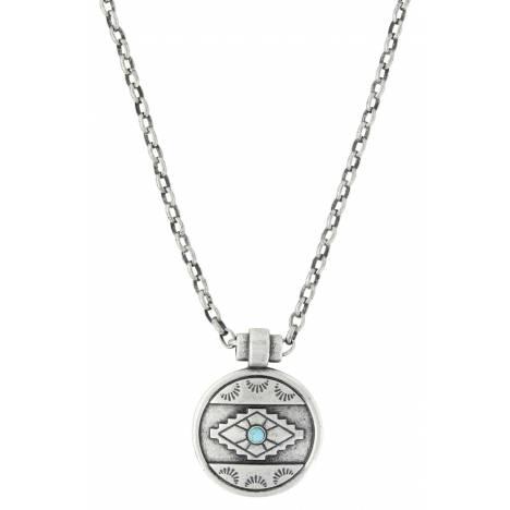 Montana Silversmiths Attitude Jewelry Antiqued Aztec Eyes Necklace