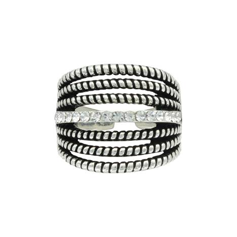 Montana Silversmiths Attitude Jewelry Daily Rope And Shine Ring