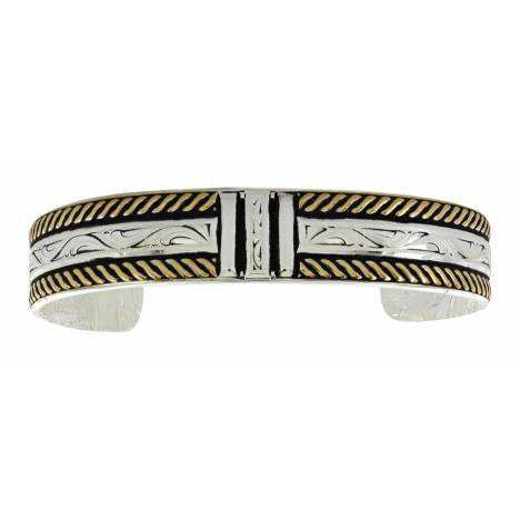 Montana Silversmiths Two Tone Three Bar Cuff Bracelet