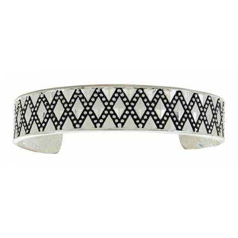 Montana Silversmiths Crosscut Diamond Cushion Cuff Bracelet