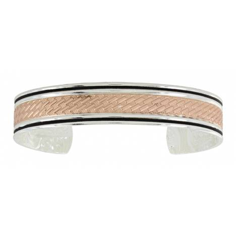 Montana Silversmiths Rose Gold Whipped Stitch Cuff Bracelet
