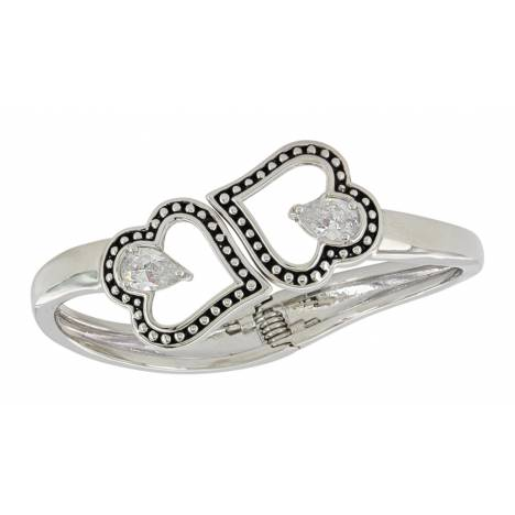 Montana Silversmiths Clubbed By Love Hinged Bracelet