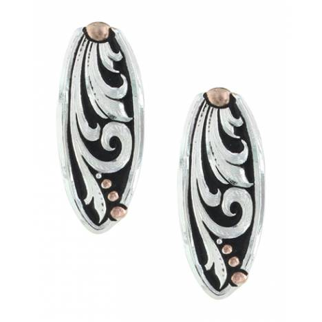 Montana Silversmiths Leather Cut Rose Gold Trailing Vine Earrings