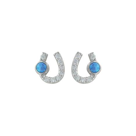 Montana Silversmiths Lightfoot Horseshoe Earrings