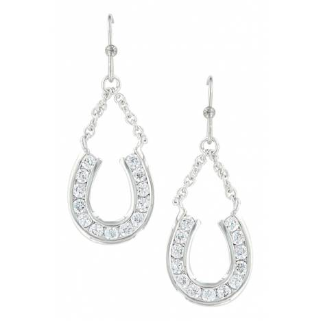 Montana Silversmiths Hanging Horseshoe Basket Earrings