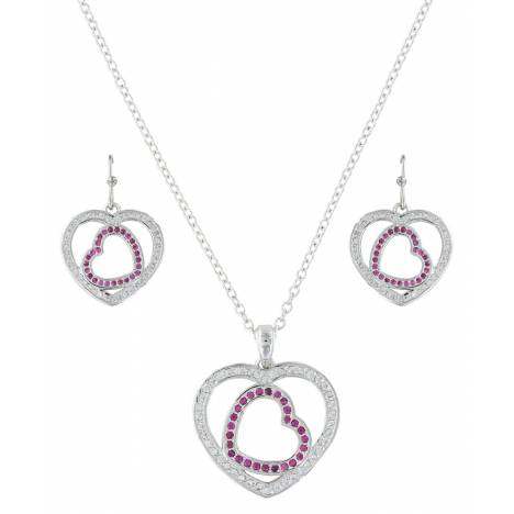 Montana Silversmiths Loves First Blush Heart Jewelry Set