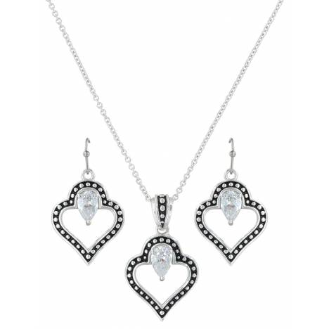 Montana Silversmiths Spade Of Hearts Jewelry Set
