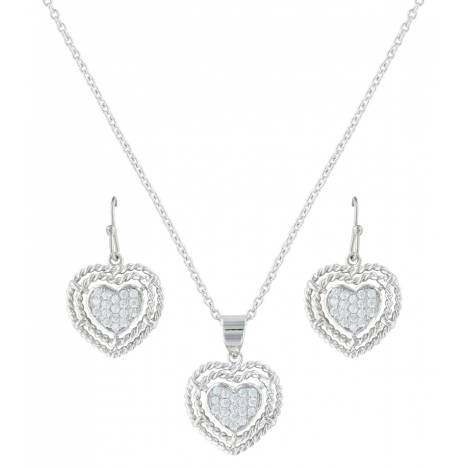 Montana Silversmiths Roped My Heart Jewelry Set
