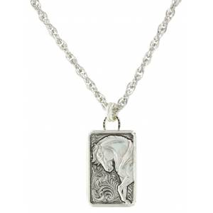 Montana Silversmiths Legacy Of Strength Horse Pendant Necklace