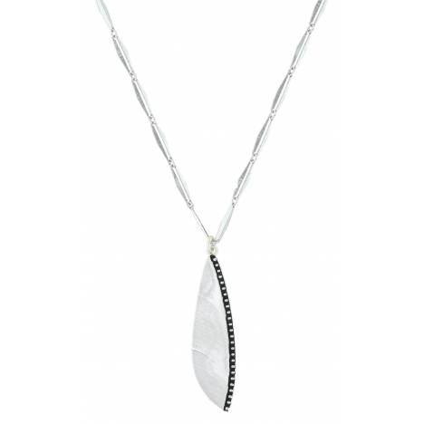 Montana Silversmiths Beaded Plume Feather Necklace