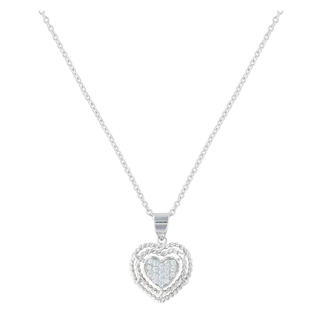 Montana Silversmiths Roped My Heart Necklace