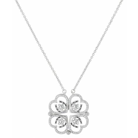 Montana Silversmiths Convertible Star Of My Heart Horseshoe Clover Necklace