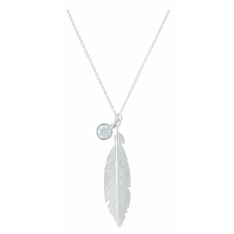 Montana Silversmiths Starlight Feather Charm Necklace