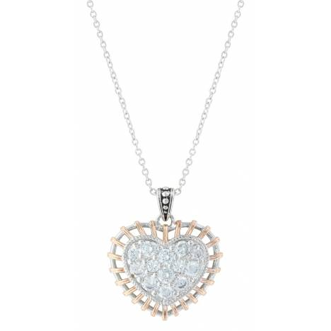 Montana Silversmiths Woven Brilliant Heart Necklace