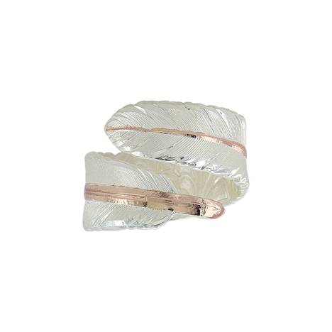Montana Silversmiths Rose Gold Filament Feather Ring