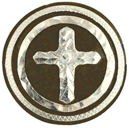Action Cross Concho with Chicago Screw Back