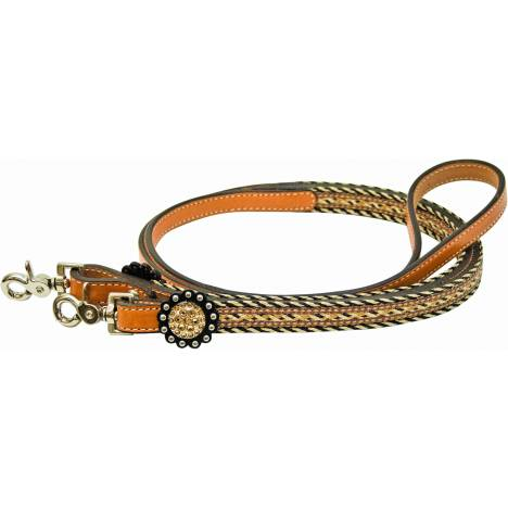 Tex Tan Imitation Crystal Concho Roping Reins