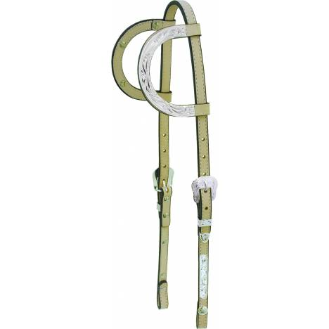 Tex Tan Silver Bars Double Ear Show Headstall