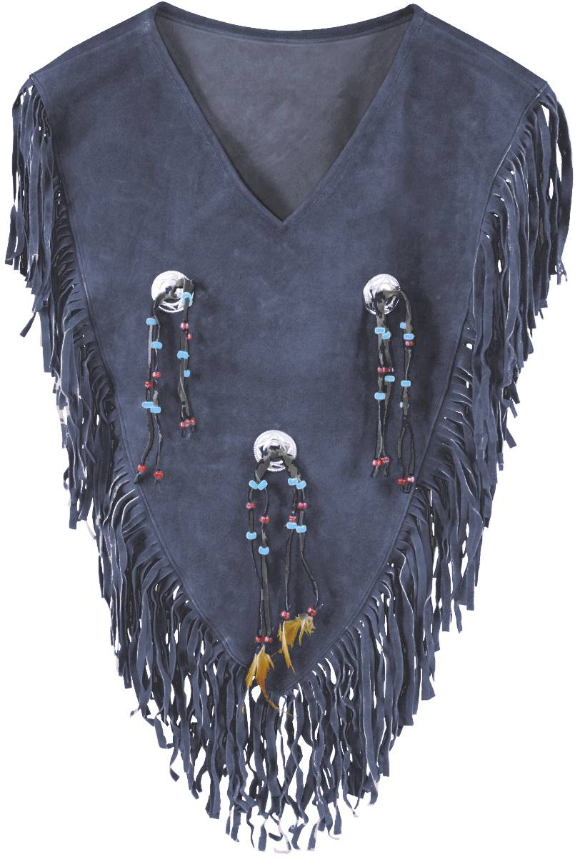 Action Ladies Yoke with Conchos Suede Shirt